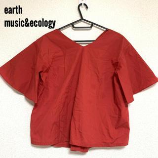アースミュージックアンドエコロジー(earth music & ecology)のearth music&ecology オレンジ トップス(カットソー(半袖/袖なし))