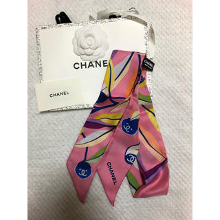 シャネル(CHANEL)のお値引中 CHANEL スカーフ ヘアバンド 新品未使用 レア(バンダナ/スカーフ)