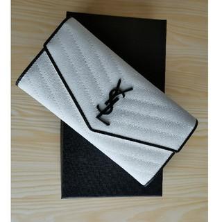 イヴサンローランボーテ(Yves Saint Laurent Beaute)の超人気YSL 長財布 レディース 小銭♪入れ カードケース  ホワイト(財布)