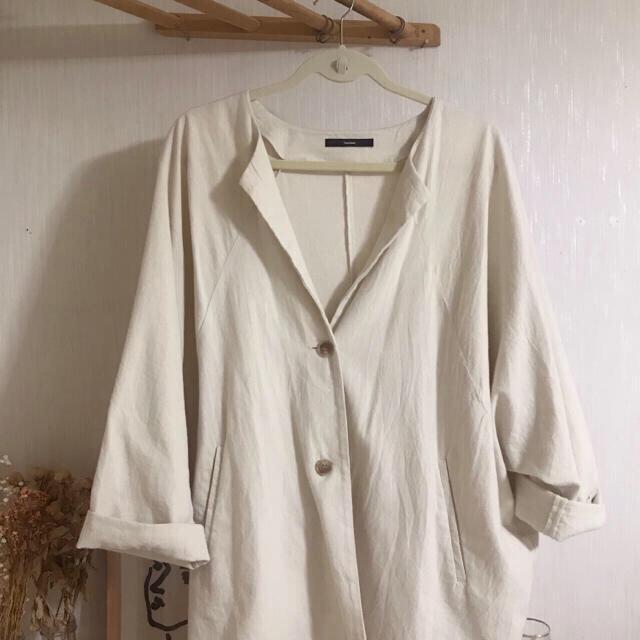 Kastane(カスタネ)のリネンジャケット レディースのジャケット/アウター(ノーカラージャケット)の商品写真
