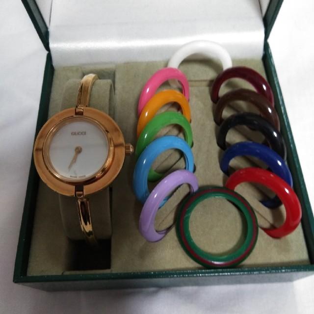 Gucci(グッチ)の(稼動品)GUCCIチェンジベゼル レディース時計 レディースのファッション小物(腕時計)の商品写真