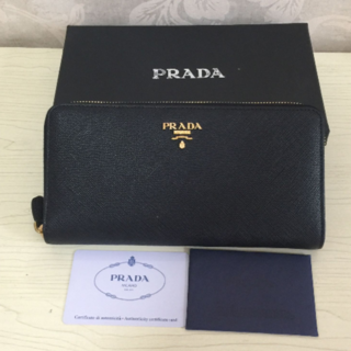 プラダ(PRADA)のPRADA  長財布 黒 (長財布)