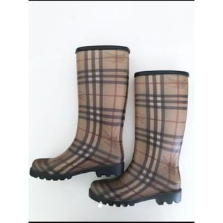 BURBERRY - BURBERRY バーバリー レインブーツ シューズ 靴 レディース