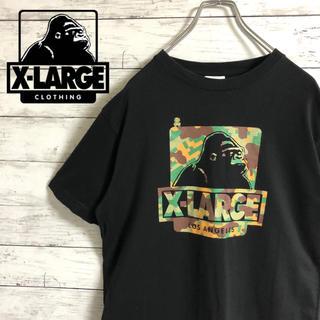 XLARGE - 【大人気】エクストララージ☆ビッグロゴ総柄 マリオコラボ ブラック 半袖Tシャツ