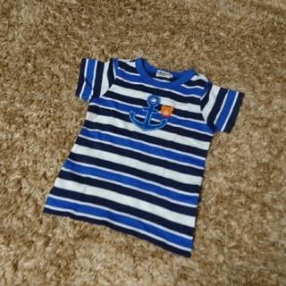 HOT BISCUITS - ミキハウス ホットビスケッツ Tシャツ 半袖 100㎝ マリン イカリ ボーダー