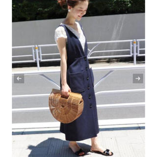 イエナ(IENA)のおすずとおりん様専用 IENA 前ボタンジャンパースカート(ロングワンピース/マキシワンピース)