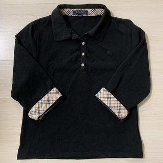 バーバリー(BURBERRY)のBurberry 七分袖カットソー 黒 150A 難あり(Tシャツ/カットソー)
