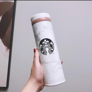 スターバックスコーヒー(Starbucks Coffee)の【スターバックス】海外限定  大理石柄 ステンレスボトル タンブラー 500ml(タンブラー)