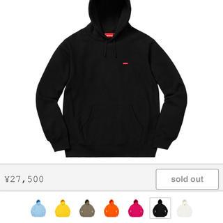Supreme -   Small Box Hooded  Swetshirt M 黒