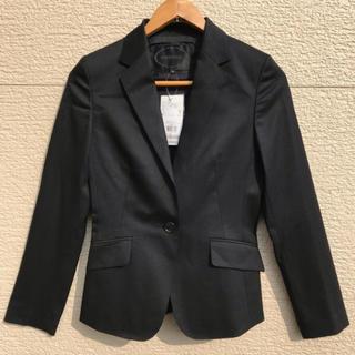 アンタイトル(UNTITLED)の新品 UNTITLED アンタイトル  ジャケット 黒 ブラック 1(テーラードジャケット)