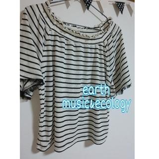 アースミュージックアンドエコロジー(earth music & ecology)のearth music&ecologyオフショルダー(カットソー(半袖/袖なし))