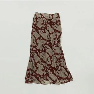 トゥデイフル(TODAYFUL)のトゥデイフル フラワージョーゼットスカート 38(ロングスカート)