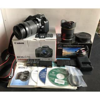 キヤノン(Canon)の【Canon点検済】EOS kiss x7ボディ 望遠レンズ 魚眼レンズ セット(デジタル一眼)