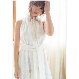 snidel - herlipto Lace-trimmed Belted Dress