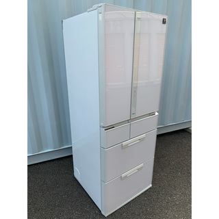 SHARP - SHARP 冷凍冷蔵庫 6ドア プラズマクラスター ガラストップ 501L