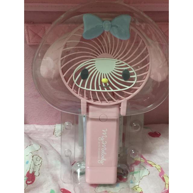 マイメロディ(マイメロディ)のマイメロ  2WAYハンディファン 扇風機 エンタメ/ホビーのおもちゃ/ぬいぐるみ(キャラクターグッズ)の商品写真