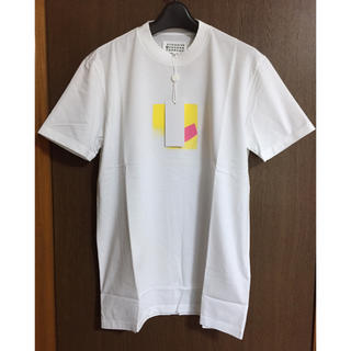 マルタンマルジェラ(Maison Martin Margiela)の白52新品 メゾン マルジェラ スプレープリント Tシャツ 半袖 カットソー(Tシャツ/カットソー(半袖/袖なし))