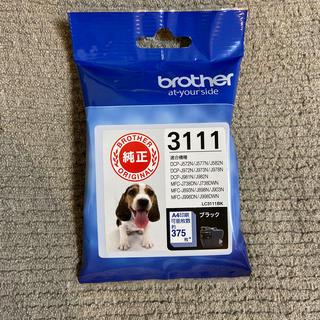 ブラザー(brother)のbrother ブラザー ブラック LC3111BK 純正 1個(オフィス用品一般)