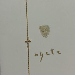 アガット(agete)のagete アガット  k18 ダイヤクロス ブレスレット(ブレスレット/バングル)