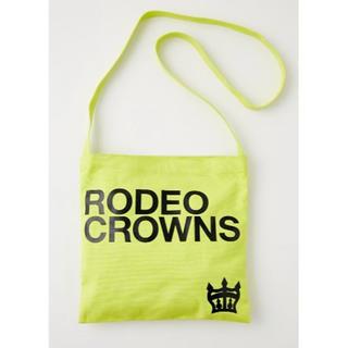 ロデオクラウンズワイドボウル(RODEO CROWNS WIDE BOWL)の【新品】ロデオクラウンズ  サコッシュ  イエロー(ショルダーバッグ)