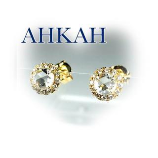アーカー(AHKAH)のアーカー K18YG ヴィヴィアンローズ ピアス ダイヤ 0.40ct(ピアス)