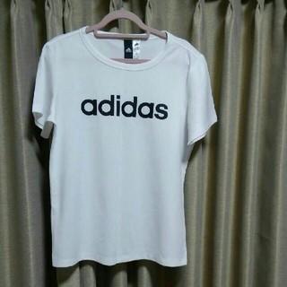 adidas - adidas アディダス ロゴTシャツ白