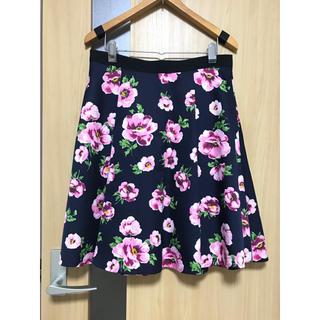 エフデ(ef-de)の大きいサイズ ef-de L 花柄スカート(ひざ丈スカート)