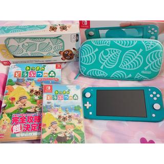 ニンテンドースイッチ(Nintendo Switch)の美品❤︎任天堂スイッチライト❤︎あつまれどうぶつの森(家庭用ゲーム機本体)