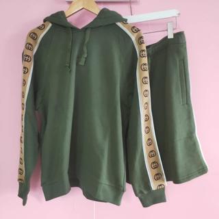 グッチ(Gucci)の【GUCCI】フーデッド コットンジャージー スウェットシャツ セット(パーカー)