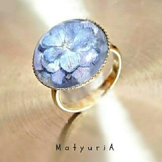 紫陽花の水滴リング(ゴールド)(リング)