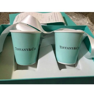 Tiffany & Co. - Tiffany ティファニーボーンチャイナペーパーカップ2個セット紙コップ