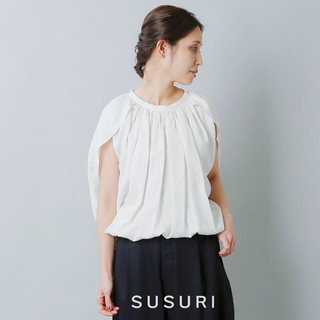 YAECA - susuri /2020SS今季 LINEN SILK PEONY BLOUSE