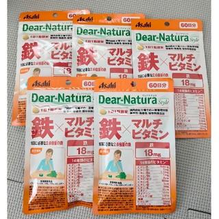 アサヒ(アサヒ)のディアナチュラ 鉄×マルチビタミン 5袋 60日分(ビタミン)
