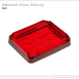 シュプリーム(Supreme)のSupreme Debossed Glass Ashtray 赤(灰皿)