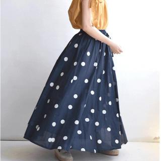 ズーティー(Zootie)のみずたまが可愛い!涼やかインド綿スカート。(ロングスカート)