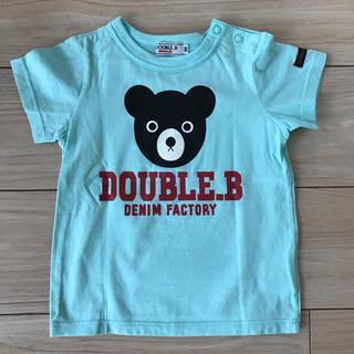 DOUBLE.B - 【美品】ミキハウス  ダブルビー Tシャツ