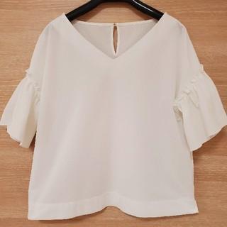 ロペ(ROPE)のROPE'ホワイトカットソー(カットソー(半袖/袖なし))