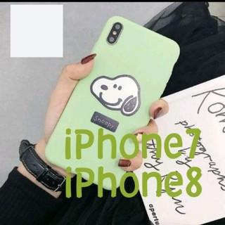 スヌーピー(SNOOPY)のiPhone7 iPhone8 スヌーピー スマホ シリコン ケース(iPhoneケース)