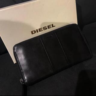 ディーゼル(DIESEL)のDIESEL ディーゼル レザー ラウンドファスナー 長財布(長財布)