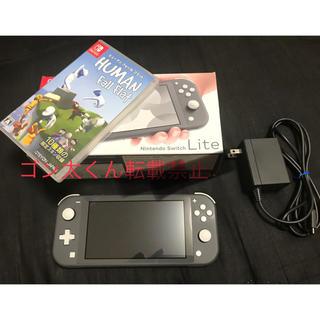 Nintendo Switch - 【格安美品】switch lite グレー ソフトセット