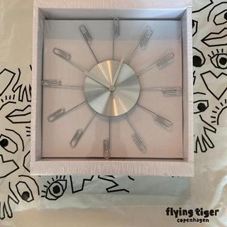 フライングタイガーコペンハーゲン(Flying Tiger Copenhagen)の【新品未開封】フライングタイガー 壁掛け時計 クリップ ★即日発送(掛時計/柱時計)