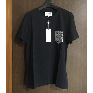 マルタンマルジェラ(Maison Martin Margiela)の46新品 メゾン マルジェラ 胸ポケット Tシャツ カットソー ダークグレー(Tシャツ/カットソー(半袖/袖なし))