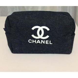 CHANEL - 新品 デニムポーチ ロゴ