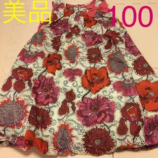 sense of wonder - sense of wonder リバティ柄ワンピース100