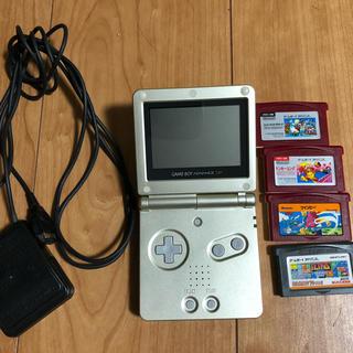 ゲームボーイアドバンス(ゲームボーイアドバンス)のまっきー様専用 ゲームボーイアドバンスSP  専用ソフト4本セット(携帯用ゲーム機本体)