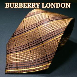 バーバリー(BURBERRY)のBURBERRY LONDON チェック ネクタイ ブラウン(ネクタイ)
