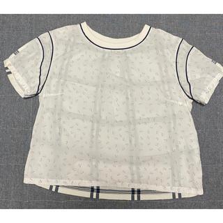 ジーユー(GU)のGU キムジョーンズコラボ トップス ネコ柄 Mサイズ(Tシャツ/カットソー(半袖/袖なし))