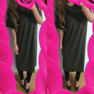 シマムラ(しまむら)の新品♡大きいサイズ♡ポケット付き♡スリットワンピース♡(ロングワンピース/マキシワンピース)