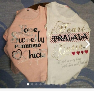 ピンクラテ(PINK-latte)のPINKlatte & TRALALA  Tシャツ 2枚(Tシャツ(長袖/七分))
