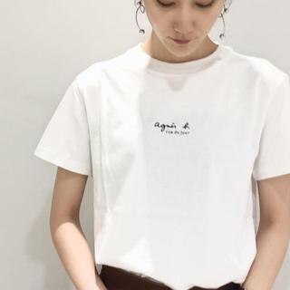 agnes b. - 【国内正規品】アニエスベー×アダムエロペ 限定コラボ ちびロゴ白 ロゴT 日本製